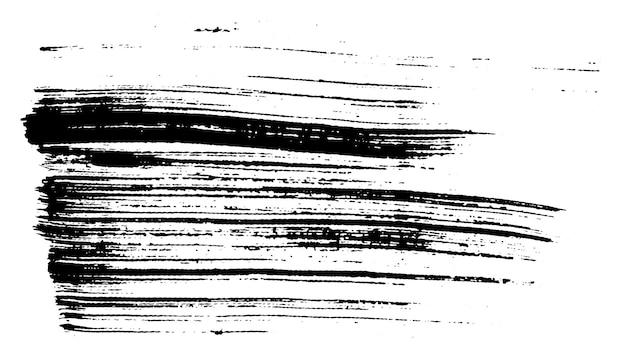 Grunge urbano pennello asciutto inchiostro texture monocromatica su carta bianca fatta a mano