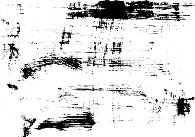 Stampa di texture di inchiostro urbano grunge su carta fatta a mano grafica astratta vintage stampa monocromatica vettoriale