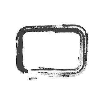 Forme rettangolari dipinte d'epoca grunge. illustrazione vettoriale.