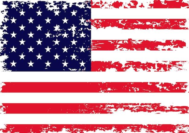 Bandiera usa vintage grunge