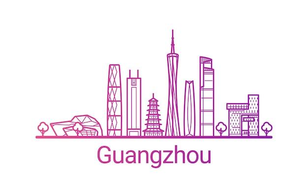 Linea sfumata colorata città di guangzhou