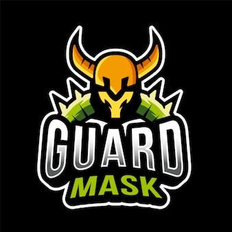 Modello di logo di viking mask esport della guardia