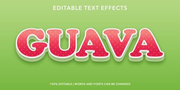 Effetto di testo modificabile in stile guava 3d