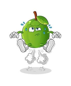 Illustrazione di salto di scoreggia guava. carattere