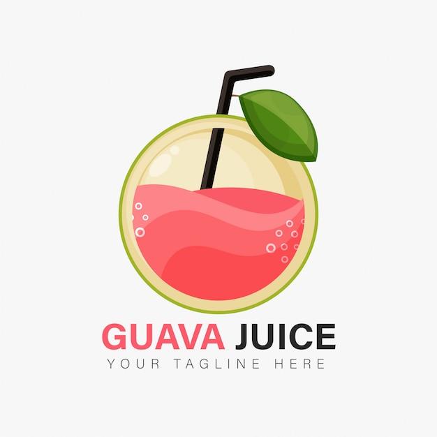 Design del logo del succo di guava