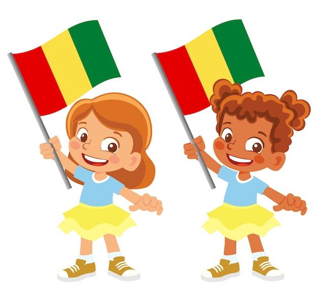 Bandiera della guinea in mano insieme