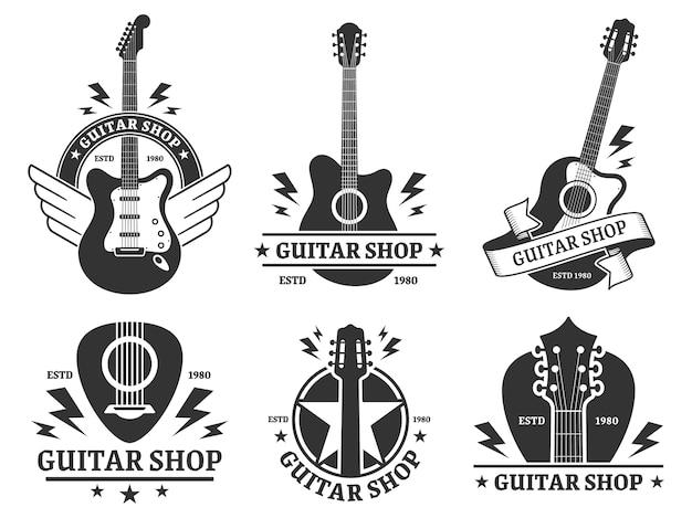 Distintivi del negozio di chitarra