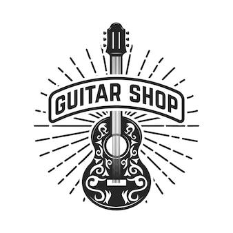 Negozio di chitarre. rock and roll.