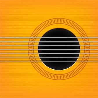 Illustrazione del foro del suono della chitarra. variante orizzontale.