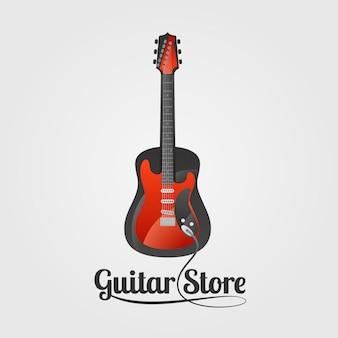 Segno del negozio di chitarra