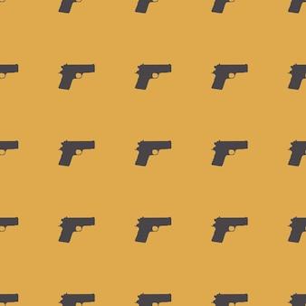 Illustrazione del modello di pistole. immagine di stile creativo e di lusso