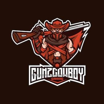Gunz cowboy esport logo template