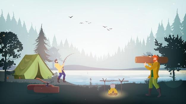 Il ragazzo trasporta legna da ardere