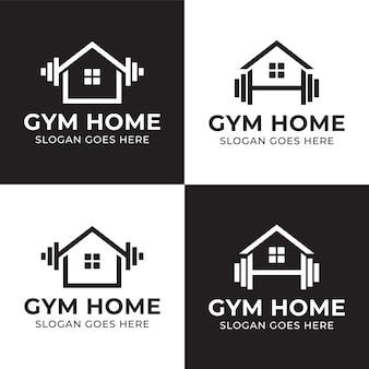 Negozio di bilancieri per attrezzature da palestra per il fitness personale con un logo domestico o un mercato per gli allenamenti a casa