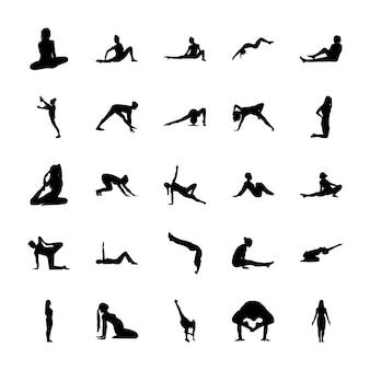Icone di esercizi di ginnastica