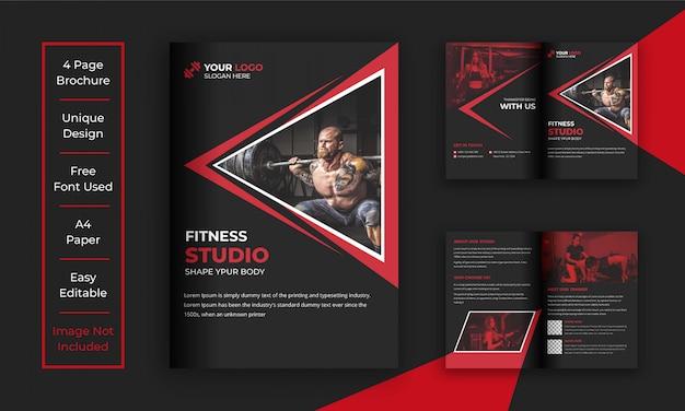 Modello di brochure palestra e fitness