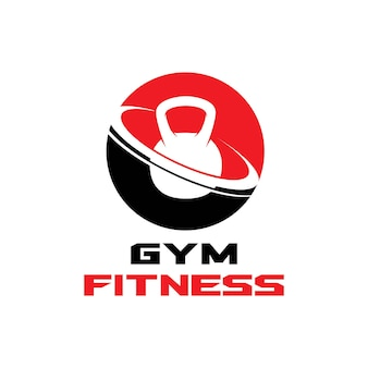 Immagine vettoriale di palestra fitness salute persone logo