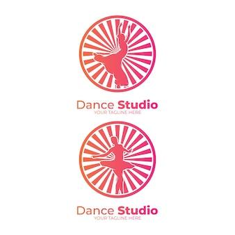 Modelli di progettazione del logo del centro di ginnastica