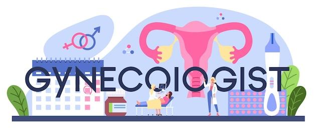 Intestazione tipografica del ginecologo