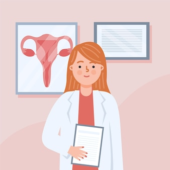 Illustrazione di concetto di ginecologia