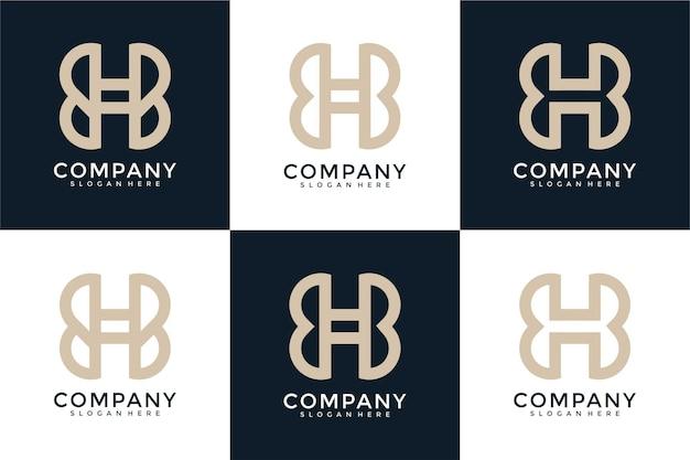 H lettera logo collezione monogramma