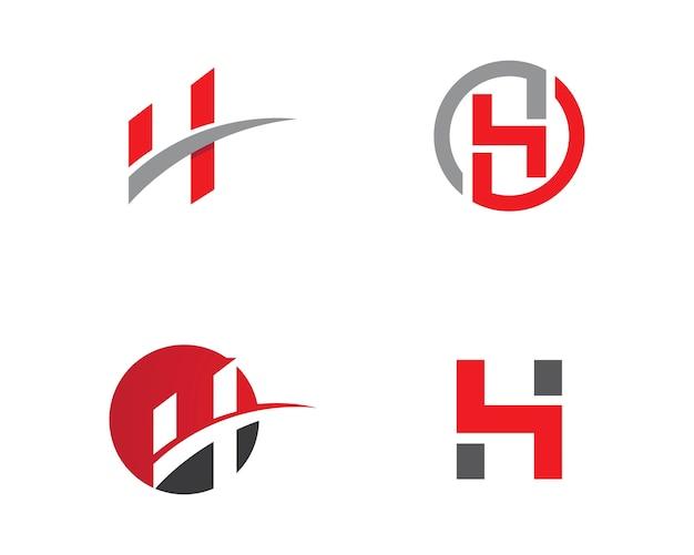 Modello di lettera h logo