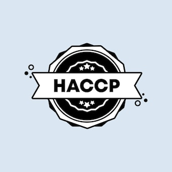 Timbro haccp. vettore. icona del distintivo haccp. logo distintivo certificato. modello di timbro. etichetta, adesivo, icone. vettore env 10. isolato su priorità bassa bianca.