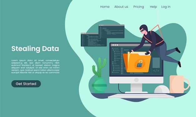 L'attività degli hacker ruba i dati dalla pagina di destinazione dei computer
