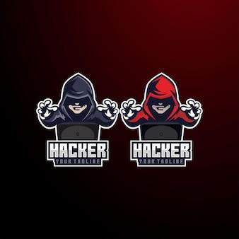 Logo di e-sport di dati anonimi di hacker