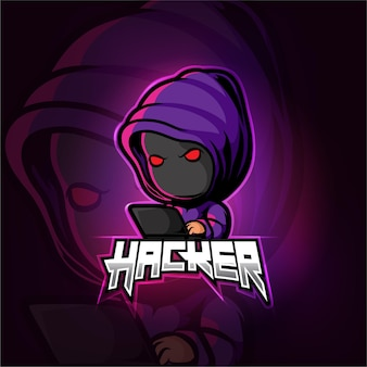 Design del logo esport mascotte hacker