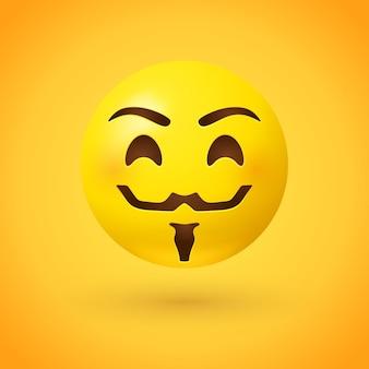 Emoji stile maschera hacker Vettore Premium