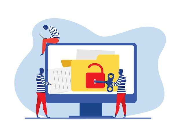 Hacker rubare dati e concetto di informazioni personali