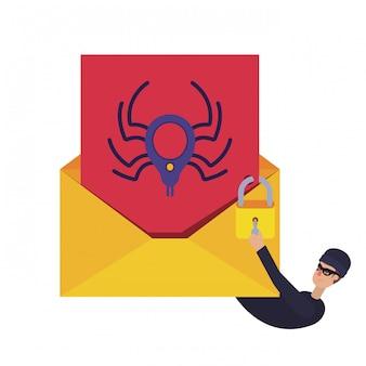 Hacker rubare informazioni avatar personaggio