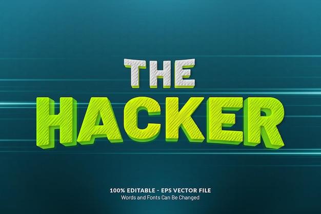 L'effetto di testo dell'hacker
