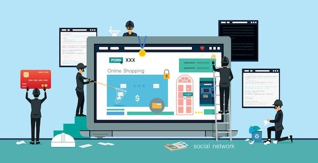 Gli hacker rubano dati informatici e informazioni sui soldi