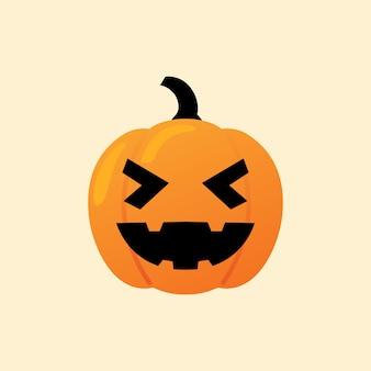 La zucca di haha reagisce il vettore di halloween dell'icona di emoji