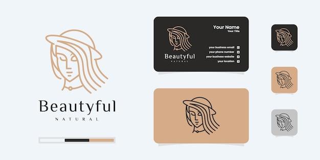 Logo di bellezza dei capelli