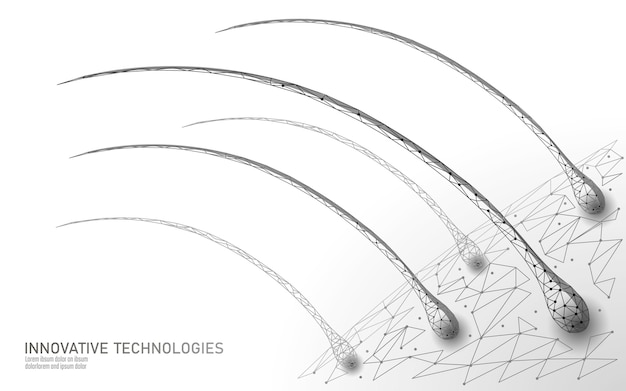 I capelli proteggono il concetto di tecnologia 3d cosmetica cura follicoli piliferi