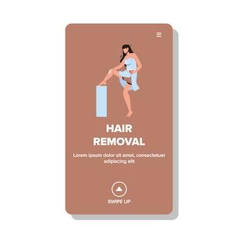 Procedura di bellezza di rimozione dei capelli pelle liscia