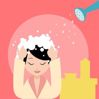 Illustrazione trattamento dei capelli