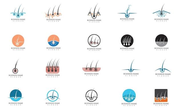 Disegno dell'illustrazione di vettore dell'icona del logo di trattamento dei capelli