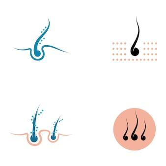 Immagine dell'icona del logo vettoriale dei trattamenti per capelli