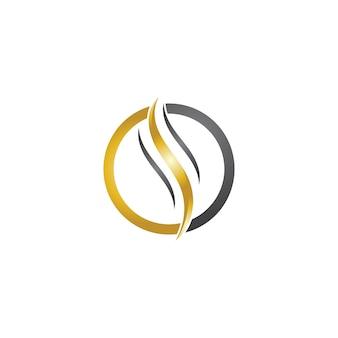 Modello di logo dell'onda dei capelli