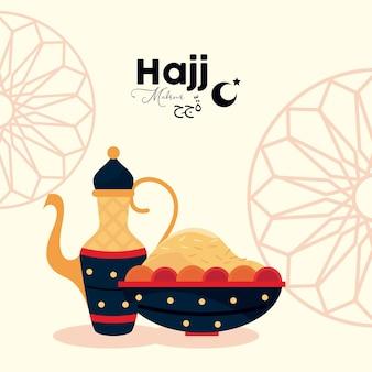 Cartolina scritta hajj mabrour