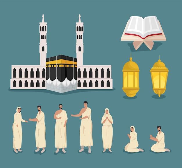 Collezione di icone hajj mabrur