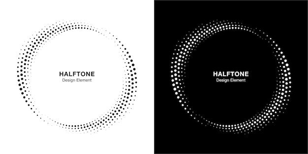Set di semitono cerchio punteggiato cornice distribuita circolarmente.