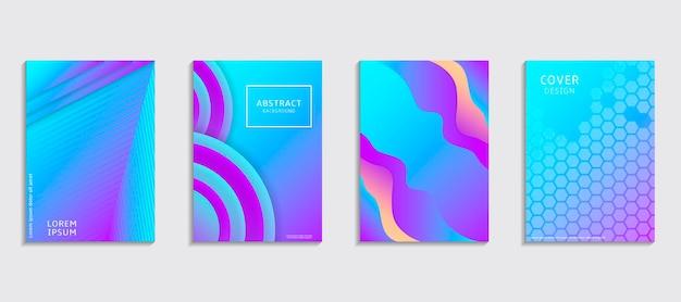 Modelli di design di copertina mezzitoni. set layout per copertine.