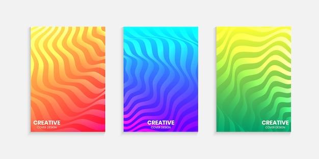 Design della copertina minimale con sfumature di mezzitoni con linee ondulate