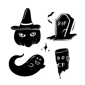 Doodle di hallloween scuro