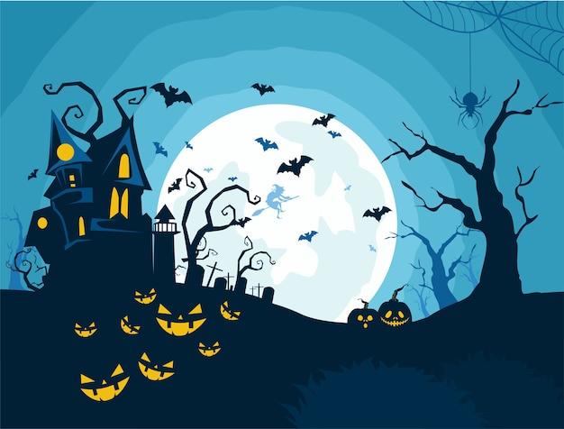Cartone animato di sfondo di halloween